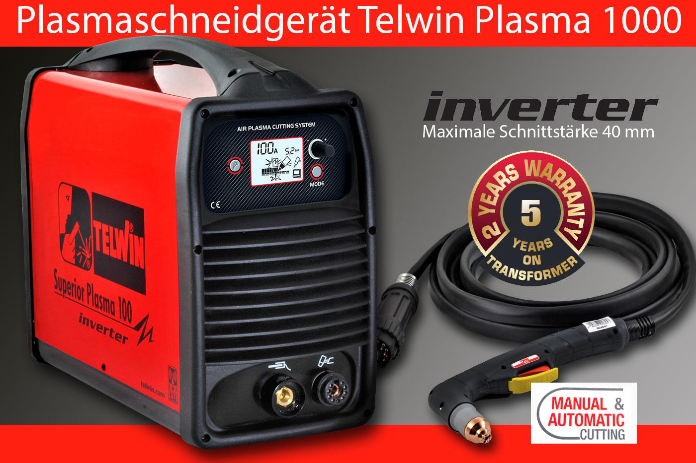 Plasmaschneidgerät Druckluft Plasma Schneidsystem Inverter Plasmaschneider Telwin Plasma 100 bei HFS Halle in Sachsen/Anhalt