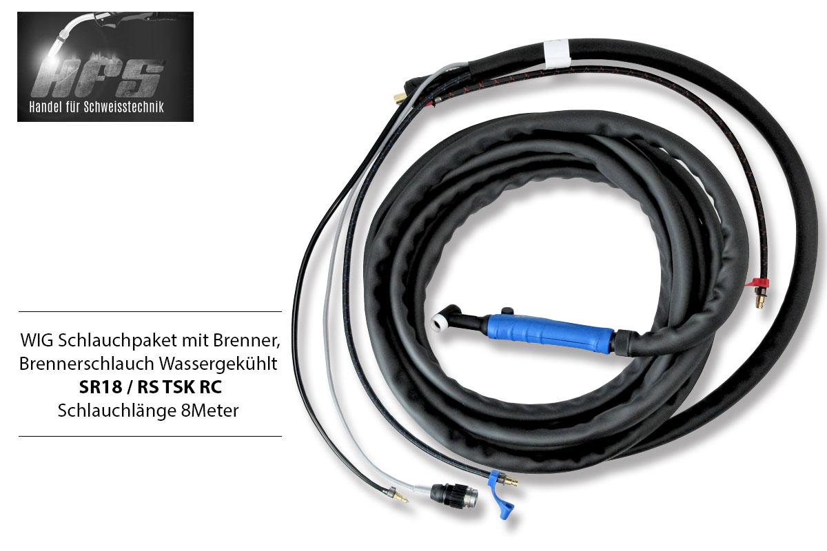 WIG Schlauchpaket SR18 mit Schweißbrenner Brenner Schweißzubehör TIG Zubehör