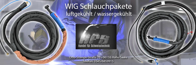 WIG Schlauchpakete Schweißbrenner Brenner bei HFS Handel für Schweißtechnik Halle/Saale