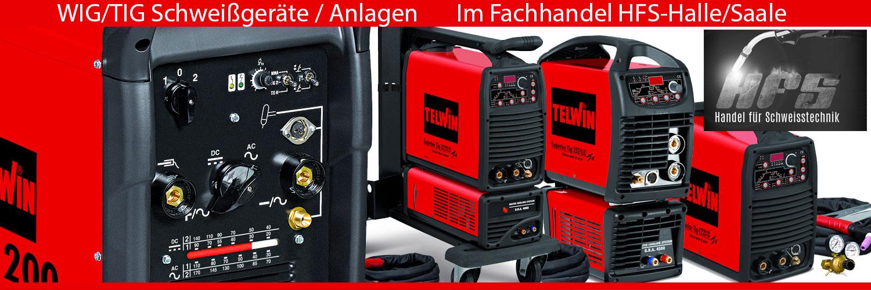 WIG TIG Schweißgeräte Schweißmaschinen Anlagen von Telwin im Fachhandel Halle/Saale