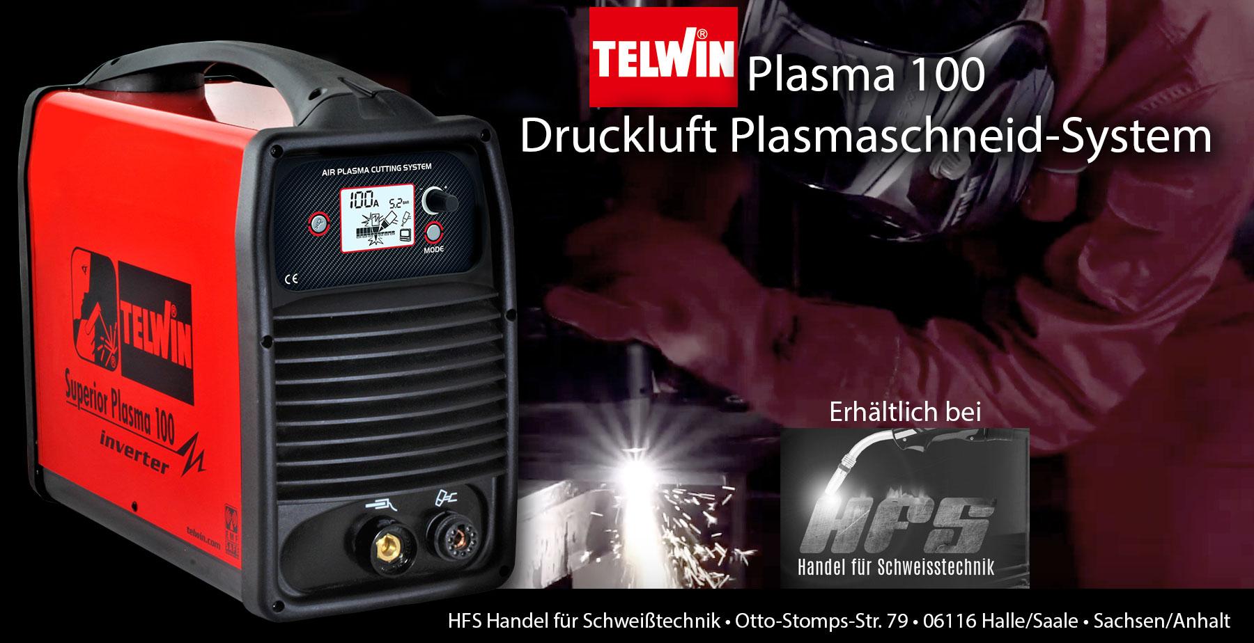 Plasmaschneider Plasmaschneid-System Druckluft Inverter Plasma 100 Telwin halle/Saale Sachsen/Anhalt